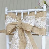 burlap chair covers 5 Lots Retro Rustic Wedding Chair Cover Sashes Jute Burlap ...
