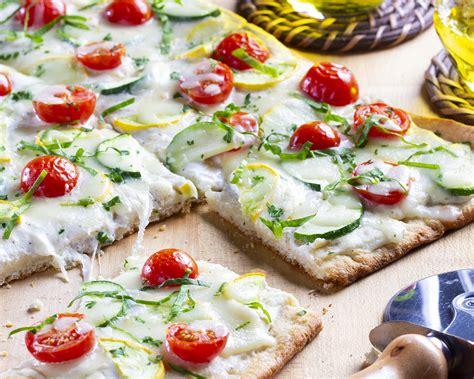 italian garden flatbread  food test kitchen
