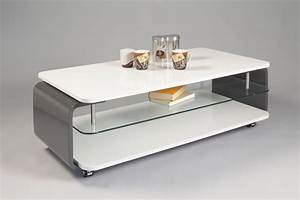 Design Occasion : table basse design verre et bois laqu blanc gris lorena table basse design table basse salon ~ Gottalentnigeria.com Avis de Voitures