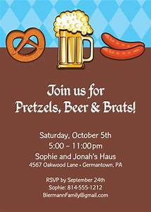 Corporate Email Invitations Oktoberfest Food Invitation