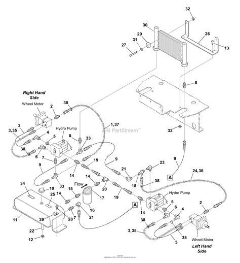 bunton bobcat ryan   turn riding mower parts diagram  hydraulic drive system