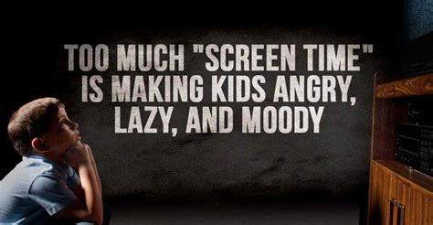 screen time  making kids angry lazy