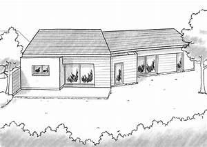 plan maison en v avec 4 chambres ooreka With superb plan de grande maison 4 plan de maison archives architecture f g concepts