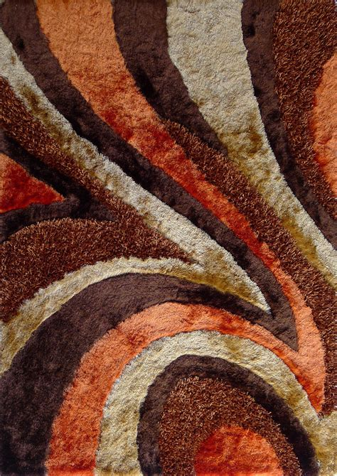 brown and area rugs plush area rug in brown and orange by rug addiction