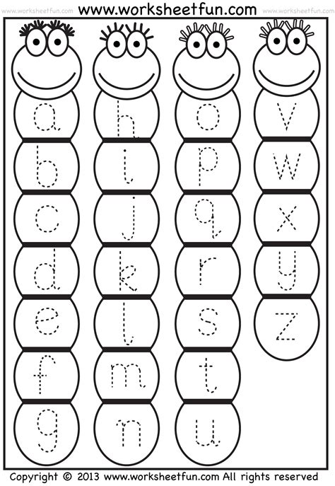 Small Letter Tracing  Lowercase  Worksheet  Bug  Free Printable Worksheets Worksheetfun