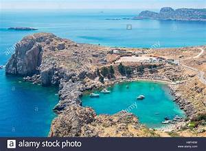 St Paul Bay  Lindos  Rhodes  Greece Stock Photo  125732457