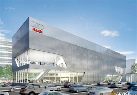 audi dealership exterior car showroom design sto pinterest showroom design