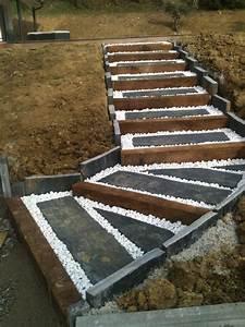 Gravier A Beton : am nagement ext rieur en escalier toulouse sp cialiste ~ Premium-room.com Idées de Décoration