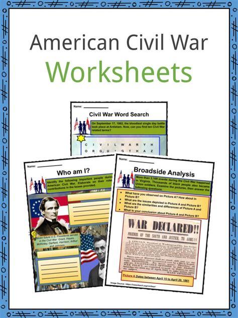 american civil war facts worksheets history impact