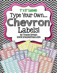 labels chevron editable 1x2 avery 5160 by tracee orman tpt With 30 up labels 1x2 5 8 on us letter