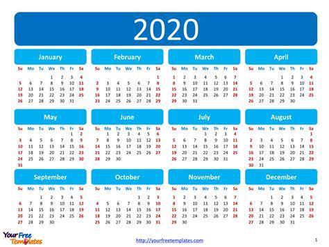 printable calendar  template  powerpoint templates