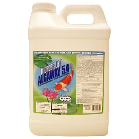 microbe lift algaway  algae control  gallon tote