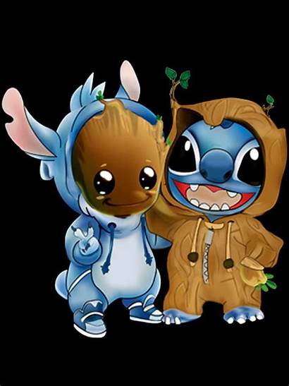 Stitch Stich Wallpapers Disney Kawaii Aesthetic Groot