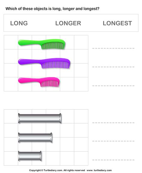 comparing length of objects turtlediary