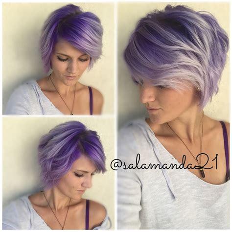Purple Ombré On Short Hair My Hair Pinterest Short