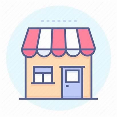 Convenience Icon Corner Storefront Building Icons Editor