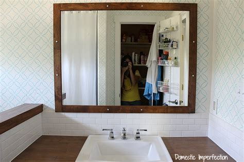 bathroom remodel hanging mirror light domestic