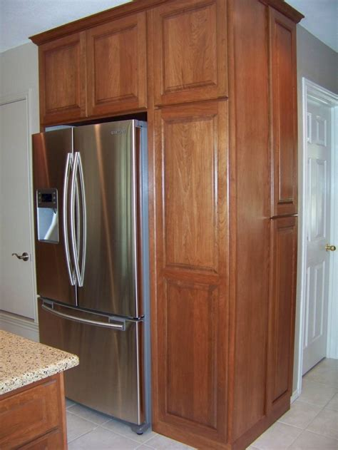 kitchen cabinets refrigerator surround built in refrigerator cabinet surround traditional 6353