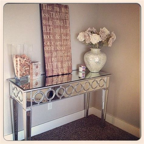 entryway console table and mirror kristolyn3610 created a reflective entryway with our sophie mirrored console table elevated