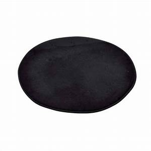 tapis de bain vita rond noir tapis salle de bain eminza With tapis salle de bain rond