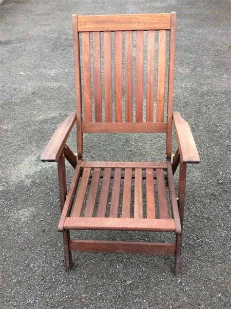 wooden reclining garden chairs  trinity edinburgh
