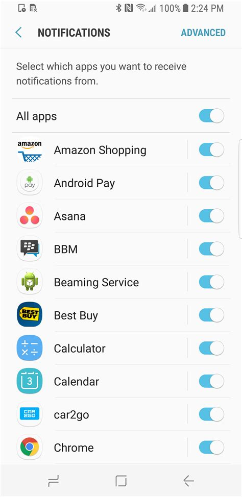 How To Turn Annoying Galaxy Apps Notifications On How To Disable App Notifications On The Samsung Galaxy S8
