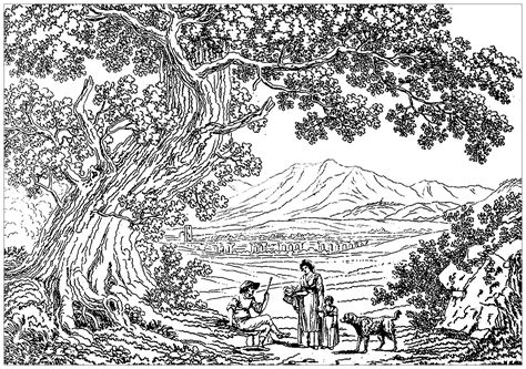 scenery coloring pages  adults  coloring pages  kids