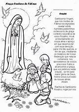 Coloring Catholic Fatima Lady Crafts Prayer Religion Pages Sunday Church Nossa Catolica Catechism Christian Resultado Rosario Imagem Para Mercy Works sketch template