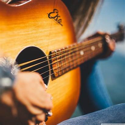 Guitar Playing Acoustic Close