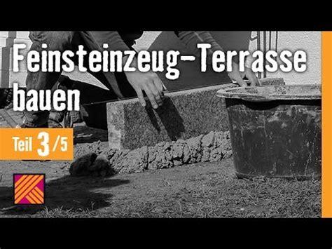 version 2013 feinsteinzeug terrasse bauen kapitel 3 randsteine setzen