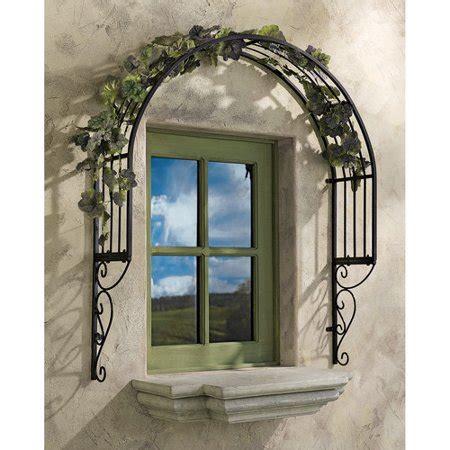 Ornamental Garden Trellis by Thornbury Ornamental Metal Garden Window Trellis Walmart