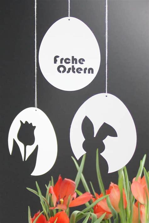 vorlagen fuer schnelle schlichte osterdeko aus papier osterhase tulpe frohe ostern