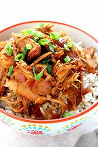 Slow Cooker Teriyaki Chicken Recipe - Crunchy Creamy Sweet