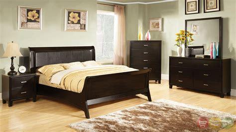 Espresso King Bedroom Set by Darien Contemporary Espresso Sleigh Bedroom Set With
