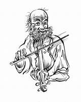 Fiddle Gleeful Player Drawing Mary Janet Robinson Artblog Getdrawings Illustration Last sketch template