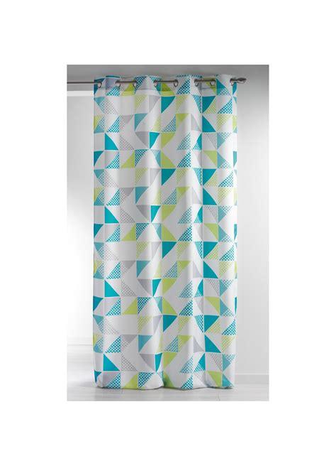rideau imprim 233 224 oeillets quot triangle fantaisie quot vert homemaison vente en ligne rideaux