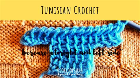 increase    left side tunisian crochet school