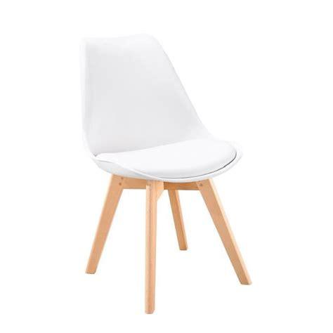bjorn chaise scandinave de salle 224 manger blanche achat vente chaise structure coque en