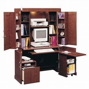 DIY Sauder Armoire Computer Desk Wooden PDF building a