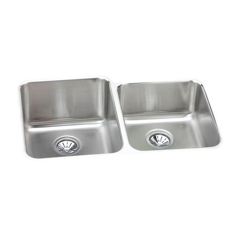 elkay stainless steel kitchen sinks elkay lustertone undermount stainless steel 31 in 8866