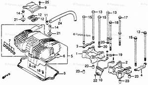 Honda Motorcycle 1985 Oem Parts Diagram For Cylinder Head