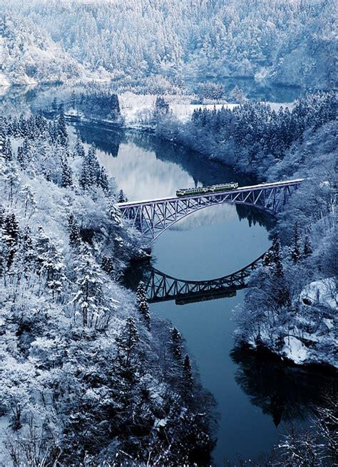 travel destinations  winter tadami river