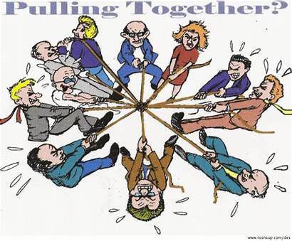 Together Pull Let Cartoon Lads Recession Cartoons