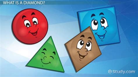 diamond shapes lesson  kids video lesson