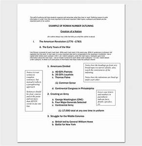 Free Apa Format Download Formal Outline Template 10 Formats And Examples Dotxes
