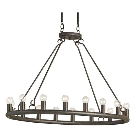 Oval Chandelier by Wilford Antique Bronze Oval 16 Light Chandelier