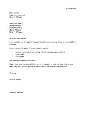 Free Cover Letter Template For Resume In Word by Free Cover Letter Templates Sle Microsoft Word