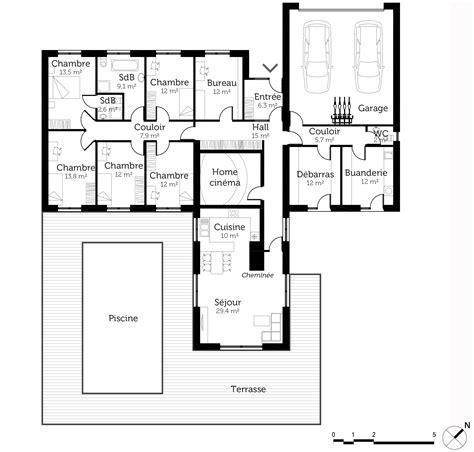 maison plain pied 5 chambres plan maison 200 m de plain pied ooreka