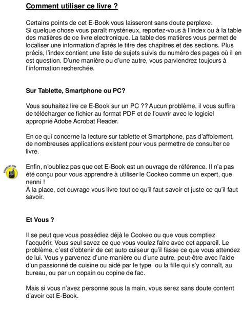 cuisiner pour les nuls recette cookeo pdf recettes cookeo filets mignon with