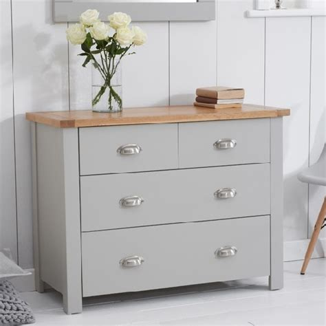 grey chest of drawers platina small chest of drawers in grey and oak with 4